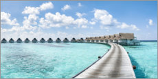 Premium poster Luxury resort in the Maldives