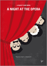 Premium poster No1053 My A Night at the Opera minimal movie poster