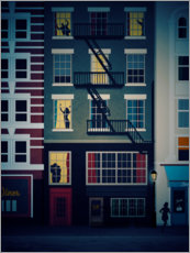 Wall sticker  New York at Night - Sybille Sterk