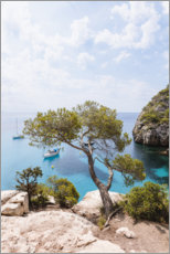 Canvas print  Mediterranean shrub and blue sea in summer - Matteo Colombo