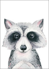Premium poster Raccoon friend
