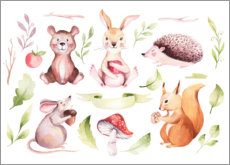 Wall Sticker  Friends of the forest - Kidz Collection
