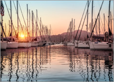 Acrylic print  Sunset in the harbor