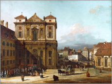 Canvas print  The Freyung in Vienna - Bernardo Bellotto (Canaletto)