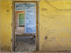 Premium poster Doors in the ghost town Kolemanskop