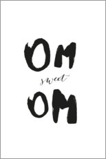 Gallery print  Om sweet Om - Amy and Kurt