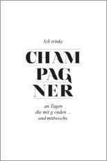 Canvas print  Champagner - Amy and Kurt