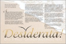 Canvas print  Desiderata (French) III - Dirk H. Wendt
