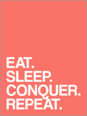 Premium poster Eat. Sleep. Conquer. Repeat.