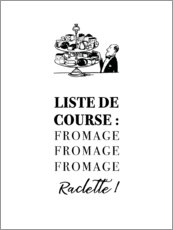 Premium poster  Shopping list (french)