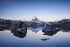 Premium poster Sunrise at the Matterhorn