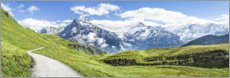 Canvas print  Swiss Alps panorama, Grindelwald - Jan Christopher Becke