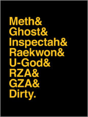 Canvas print  Wu-Tang clan - name - Michael Tarassow