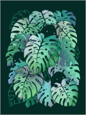 Premium poster Monstera Monsters
