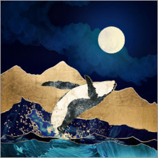 Canvas print  The Free Whale - SpaceFrog Designs