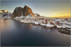 Premium poster Hamnoy at sunrise