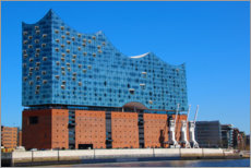 Foam board print  Elbphilharmonie in the sunshine - Die Farbenflüsterin