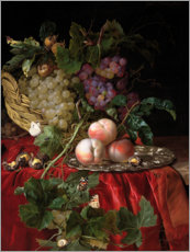 Wall sticker  Still Life with Grapes and Peaches - Willem van Aelst
