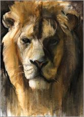 Foam board print  Asiatic Lion - Mark Adlington