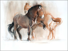 Premium poster  Two horses - Mark Adlington