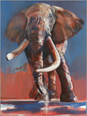 Premium poster An elephant at the waterhole