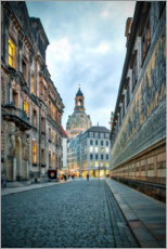 Premium poster Prince Railway Dresden with Frauenkirche