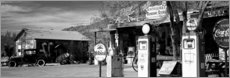 Acrylic print  Gas station on Route 66, Hackenberry, USA