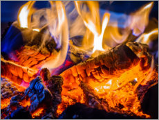 Canvas print  Crackling fire