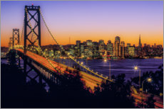 Acrylic print  Oakland Bay Bridge at sunset, California