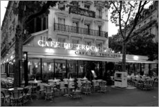 Wood print  Street cafe in Paris, France