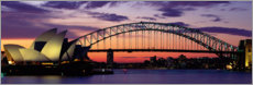 Canvas print  Sunset over the harbor of Sydney, Australia