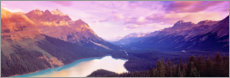 Gallery print  Pastel shades on Peyto Lake in Canada