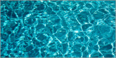 Canvas print  Gentle waves in the swimming pool