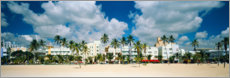 Foam board print  Beach Hotels in Miami