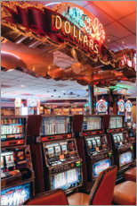 Wood print  Slot machines in Las Vegas - TBRINK