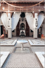 Acrylic print  Courtyard in Marrakech - TBRINK