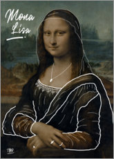 Aluminium print  Mona Lisa illustration - TBRINK