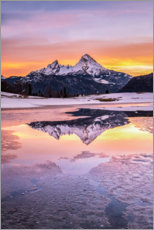Premium poster Sunrise at Watzmann