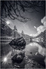 Acrylic print  Magic Forest on the Hintersee - Fotomagie