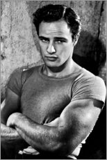 Wood print  Marlon Brando - Celebrity Collection