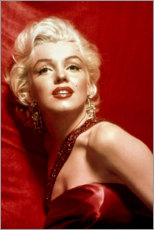 Premium poster Marilyn Monroe - red dress
