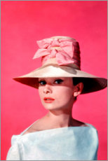 Gallery print  Audrey Hepburn - pink - Celebrity Collection