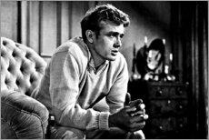 Wood print  James Dean on sofa - Celebrity Collection