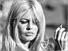 Canvas print  Brigitte Bardot - blown away - Celebrity Collection