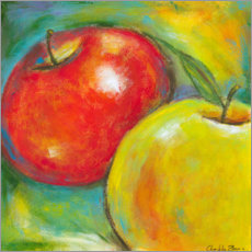 Premium poster Abstract Fruits - Apple IV