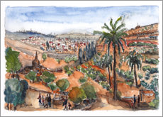 Premium poster View into the Kidron Valley, Jerusalem
