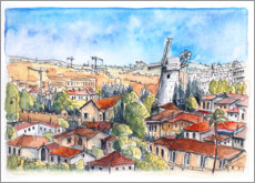 Gallery print  Monefiore windmill, Jerusalem - Hartmut Buse