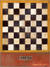 Wood print  Chess - Norman Wyatt