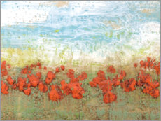 Gallery print  Coral Poppies I - Jennifer Goldberger