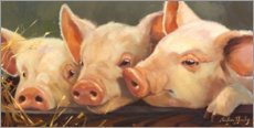 Wood print  Three little pigs - Carolyne Hawley